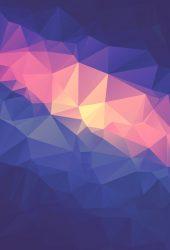 ネオン低ポリ三角形のiPhone 7 Plus壁紙