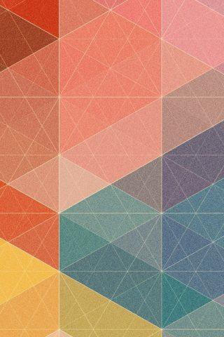 多角形三角形パステル柄のiPhone6壁紙