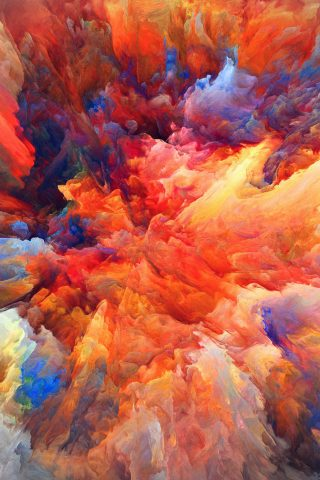 カラー爆発レッドペイントパターンソフトiPhone6 Plusの壁紙