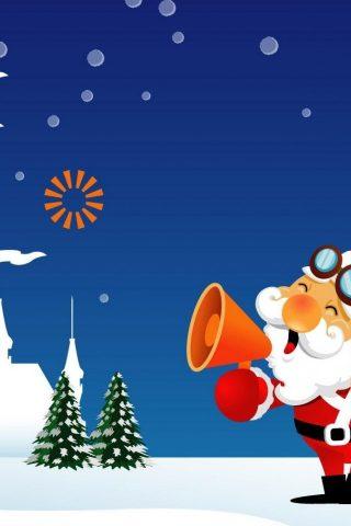サンタクロースはiPhone5の壁紙を呼び出している