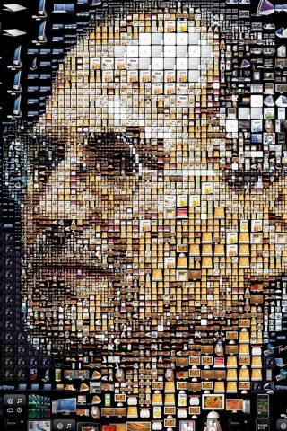 スティーブ・ジョブズアップル製品肖像iPhone8壁紙