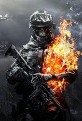 バトルフィールド3の頭蓋骨火の兵士のiPhone 6の壁紙