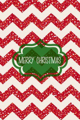メリークリスマスジグザグパターンiPhone6壁紙