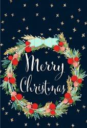 メリークリスマスヤドリギイラストiPhone7壁紙