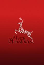 メリークリスマス赤の背景ルドルフトナカイiPhone6壁紙