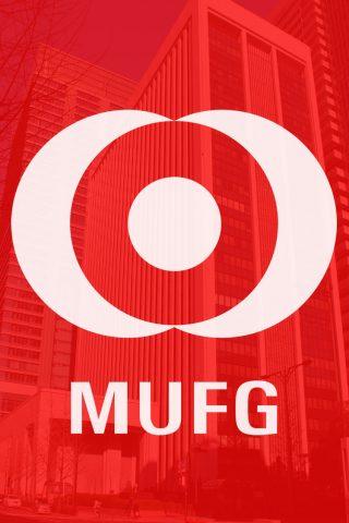 三菱UFJフィナンシャル・グループのロゴiPhone8壁紙