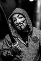 匿名ガイフォークスマスクマシェットiPhone 8 Plus壁紙