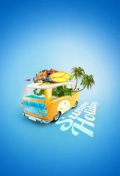 夏休みヴァンカラフルなiPhone6の壁紙