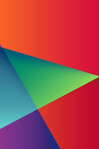 抽象的なカラフルな三角形のiPhone8壁紙