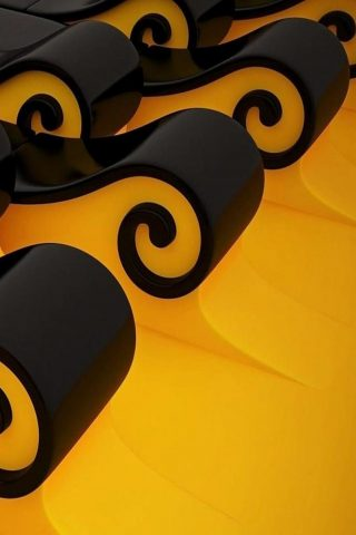 美しい3DデザインiPhone Xの壁紙