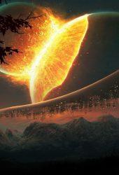 衝突する惑星iPhone7 Plus壁紙