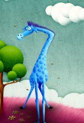 面白いキリンの描画iPhone6Plus壁紙