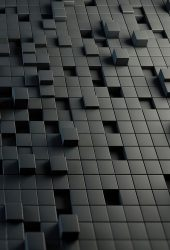 3DキューブiPhone8の壁紙