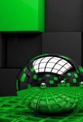 3D緑背景iPhone6壁紙