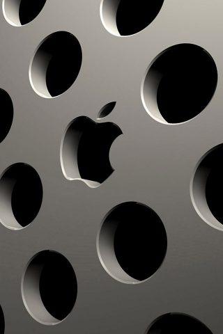 3D AppleロゴiPhoneの壁紙