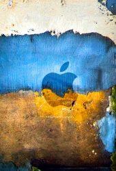 AppleロゴグラフィティグランジiPhone8壁紙