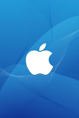 Appleロゴワイヤーフレーム波iPhone6の壁紙