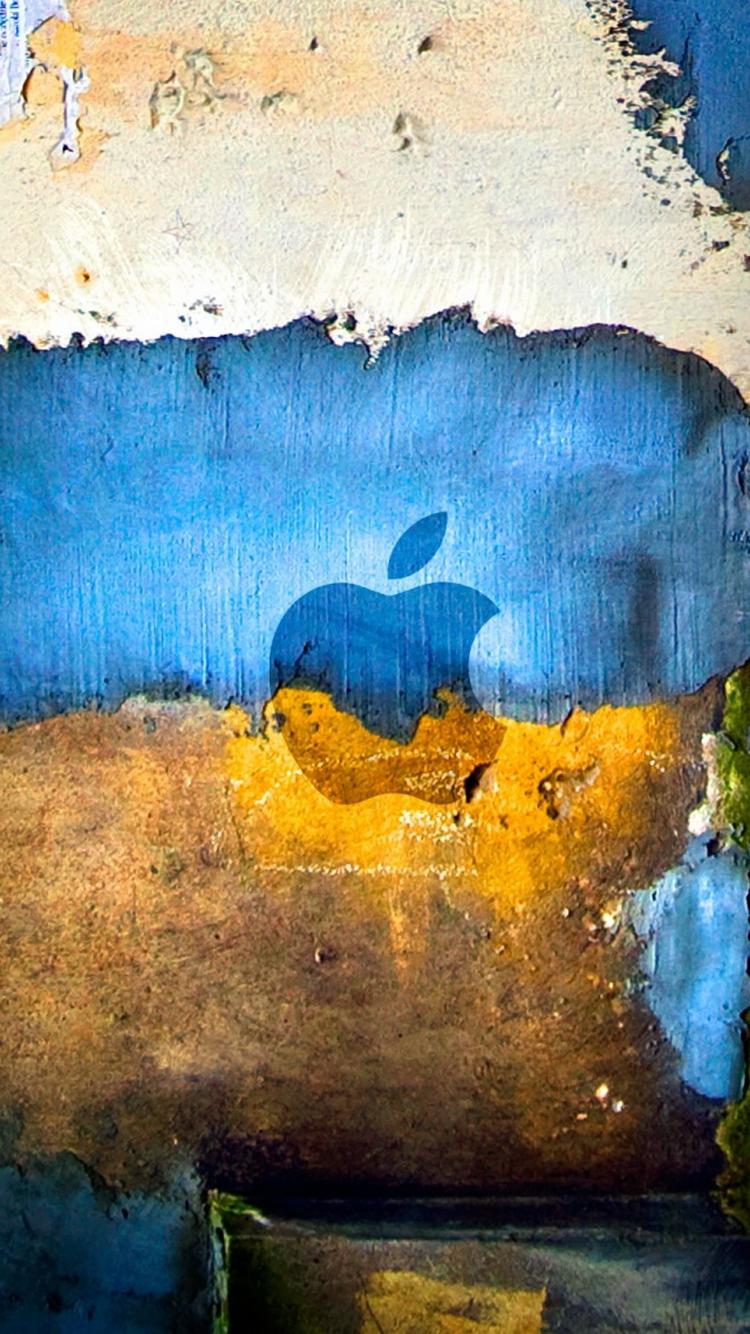 Appleロゴグラフィティグランジiphone8壁紙 Iphoneチーズ
