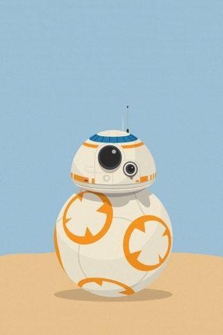 BB-8かわいいロボットスターウォーズイラストiPhone5壁紙
