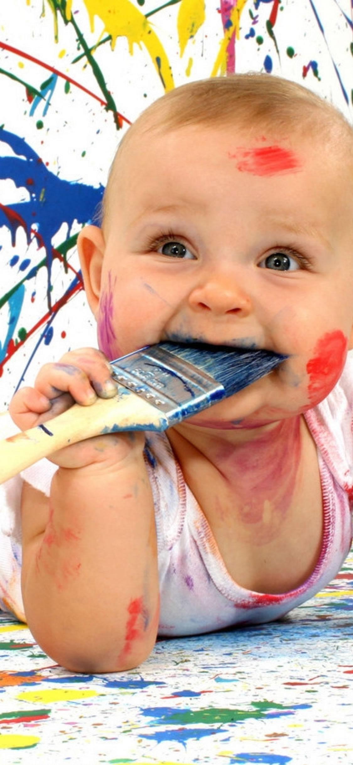 かわいい赤ちゃん面白いペイントiphone X壁紙 Iphoneチーズ