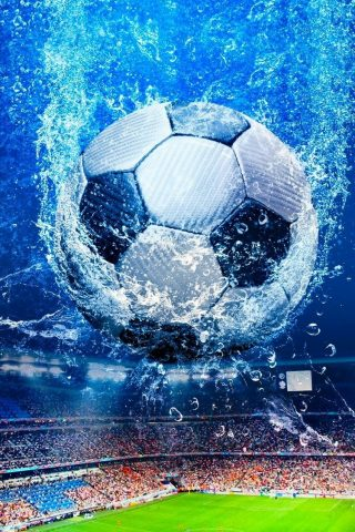 ファンタジーサッカースタジアムボールスプラッシュiPhone8壁紙