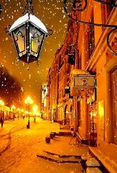 モスクワ冬の夜iPhone6壁紙