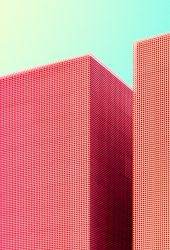 レッド超高層ビルiPhone7 Plus壁紙