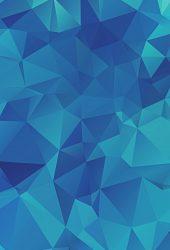 低ポリブルー三角形iPhone 8 Plus壁紙