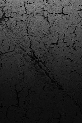 ひび入った地球テクスチャiPhone5壁紙