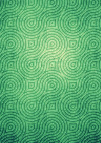クールな渦巻き模様緑色パターンiPhone 5壁紙