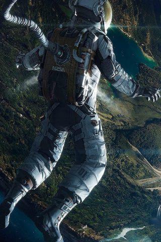 スペースiPhone6壁紙で宇宙飛行士