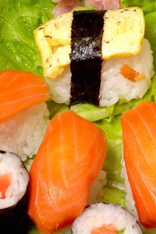 ロールス寿司シーフード料理iPhone5壁紙