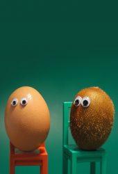 卵キウイフルーツアイズチェアファニー状況iPhone X壁紙