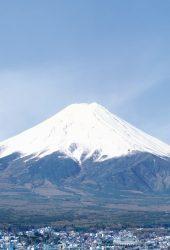 山富士と市iPhone5壁紙