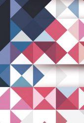 幾何学的なレッドブルーグリッドiPhone 7壁紙