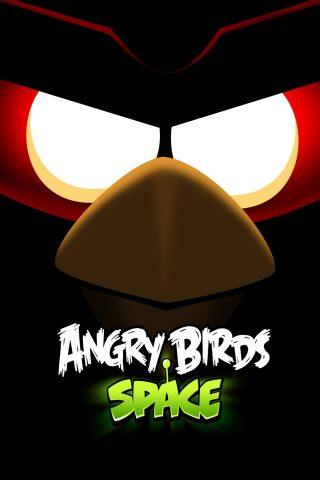怒っている鳥のスペースiPhone壁紙
