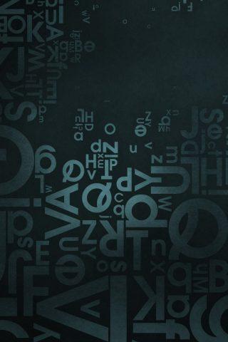 手紙青い背景iPhone 7 Plus壁紙