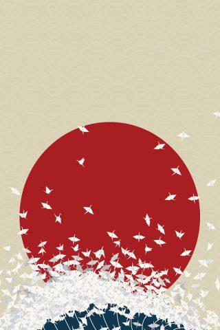 折り紙日本はサンウエーブiPhone8壁紙ライジング