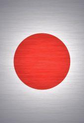 日本旗グレーテクスチャiPhone6 Plus壁紙