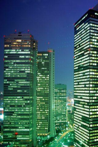 東京超高層ビルトップビューナイトiPhone6壁紙