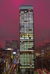 東京超高層ビル高層ナイトiPhone 8 Plus壁紙