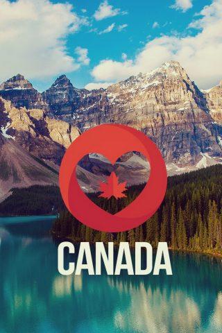 私はカナダ自然風景iPhone 8壁紙を愛しています