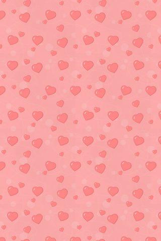 聖バレンタインハーツ愛パターンiPhone8壁紙