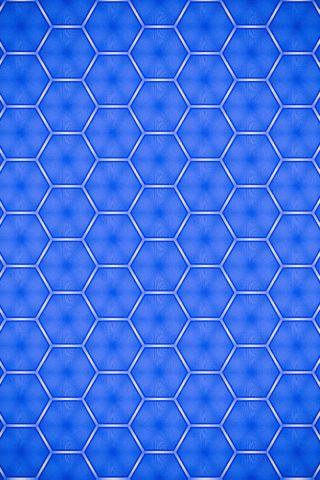 青い形のテクスチャiPhone Xの壁紙