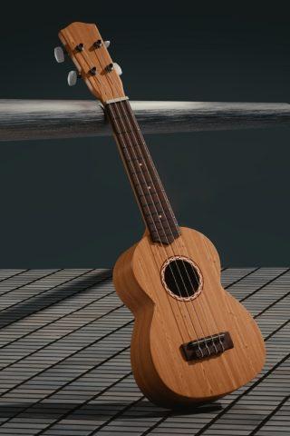 3Dギター楽器iPhone壁紙