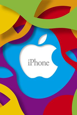 アップル抽象マルチカラーのロゴiPhone 6壁紙