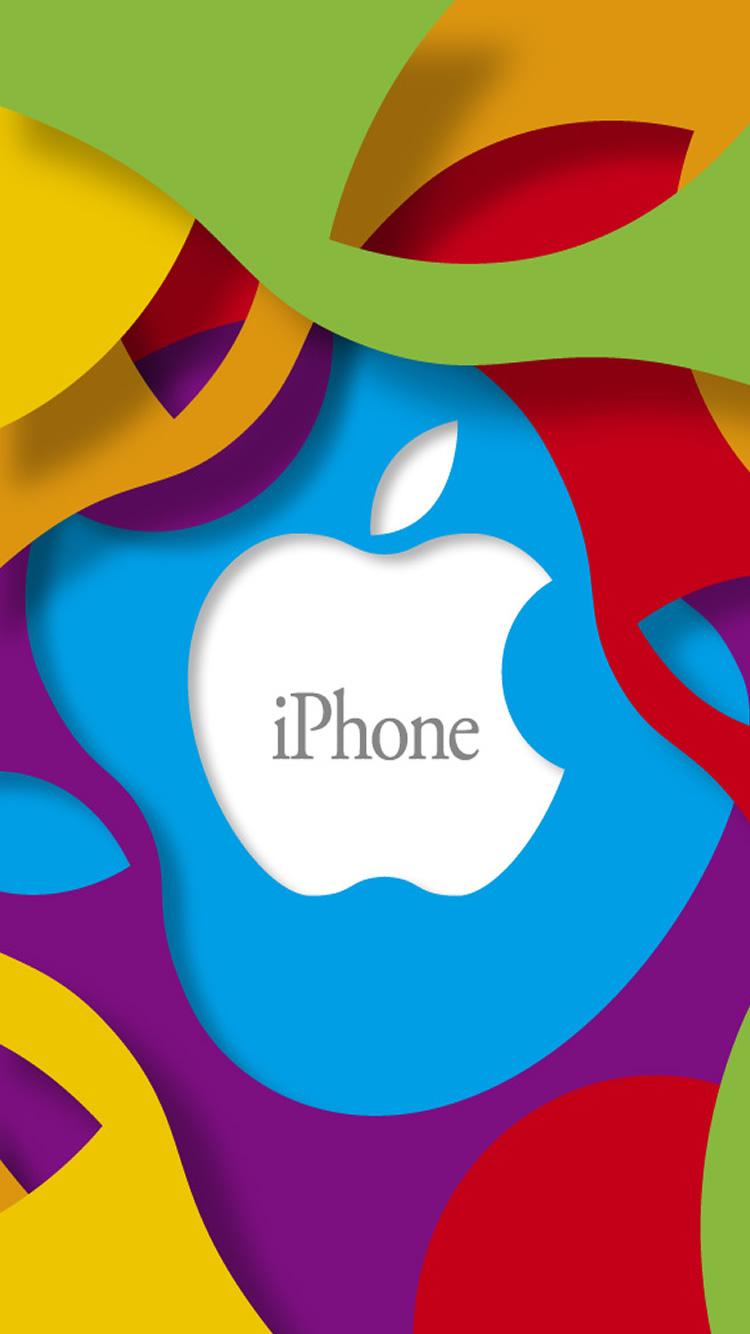 アップル抽象マルチカラーのロゴiphone 6壁紙 Iphoneチーズ