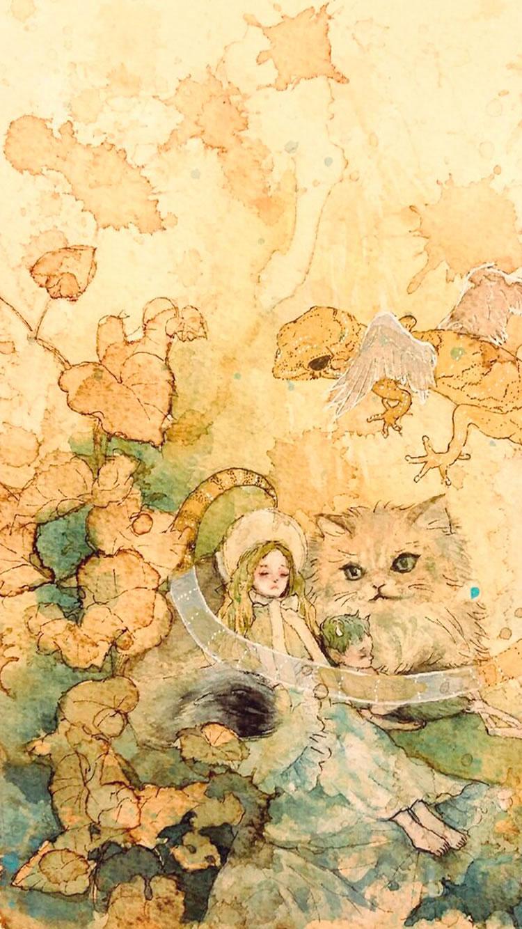 ふしぎの国のアリス テレビアニメ Iphone 6壁紙 Iphoneチーズ