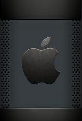 アップルクールブラックロゴiPhone8 Plus壁紙