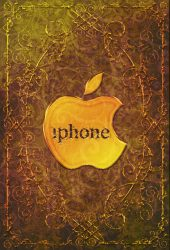 アップルゴールドロゴiPhone壁紙